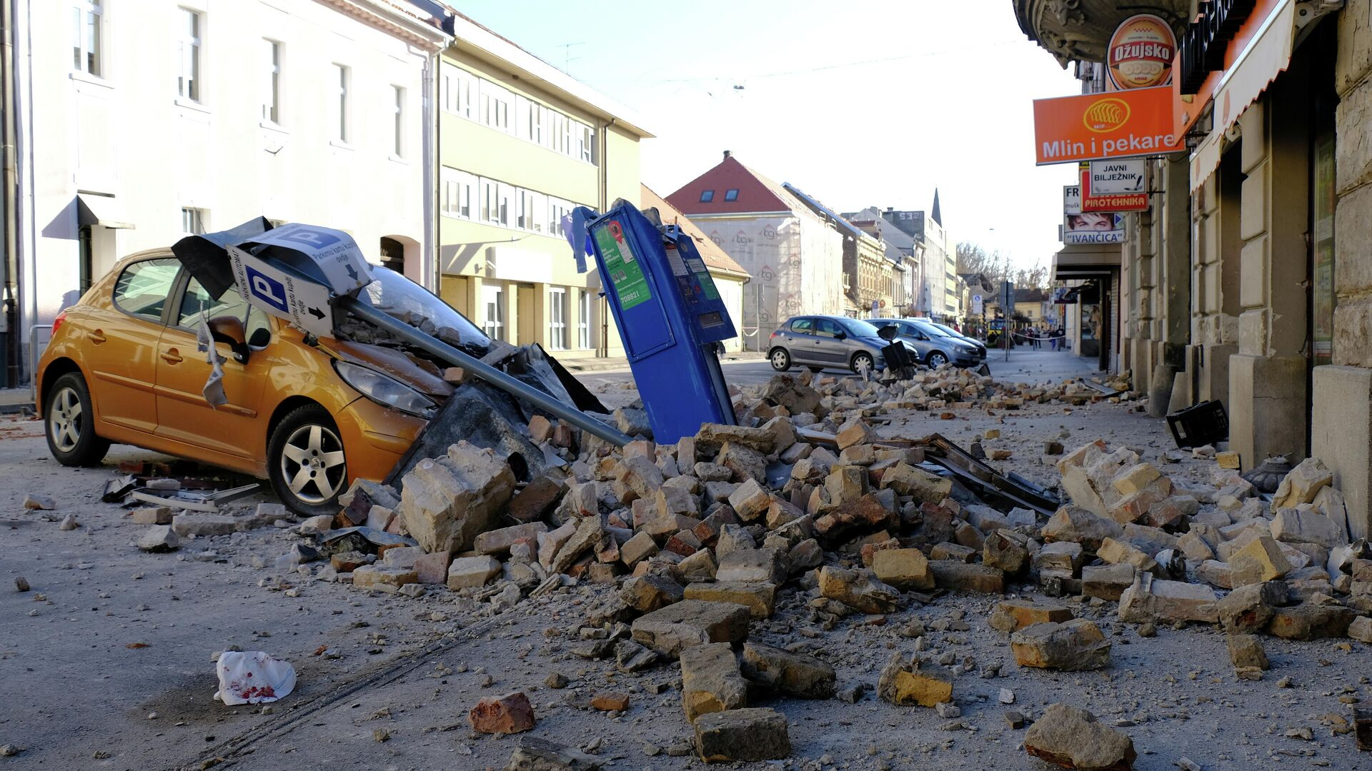 Последствия землетрясения в Хорватии - РИА Новости, 1920, 29.12.2020