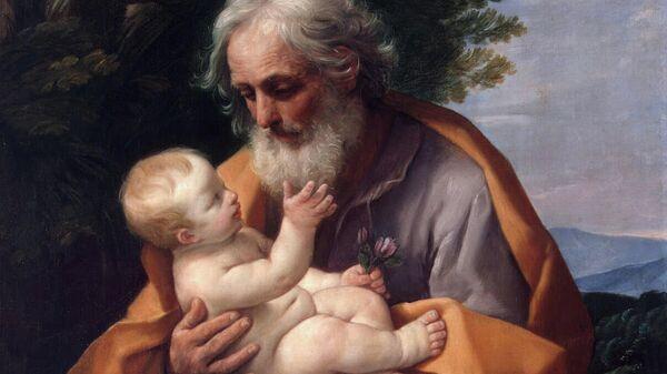 Картина Гвидо Рени Святой Иосиф с младенцем Иисусом. 1620-е гг.