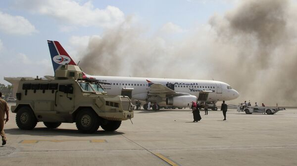 Взрыв в аэропорту Аден в Йемене