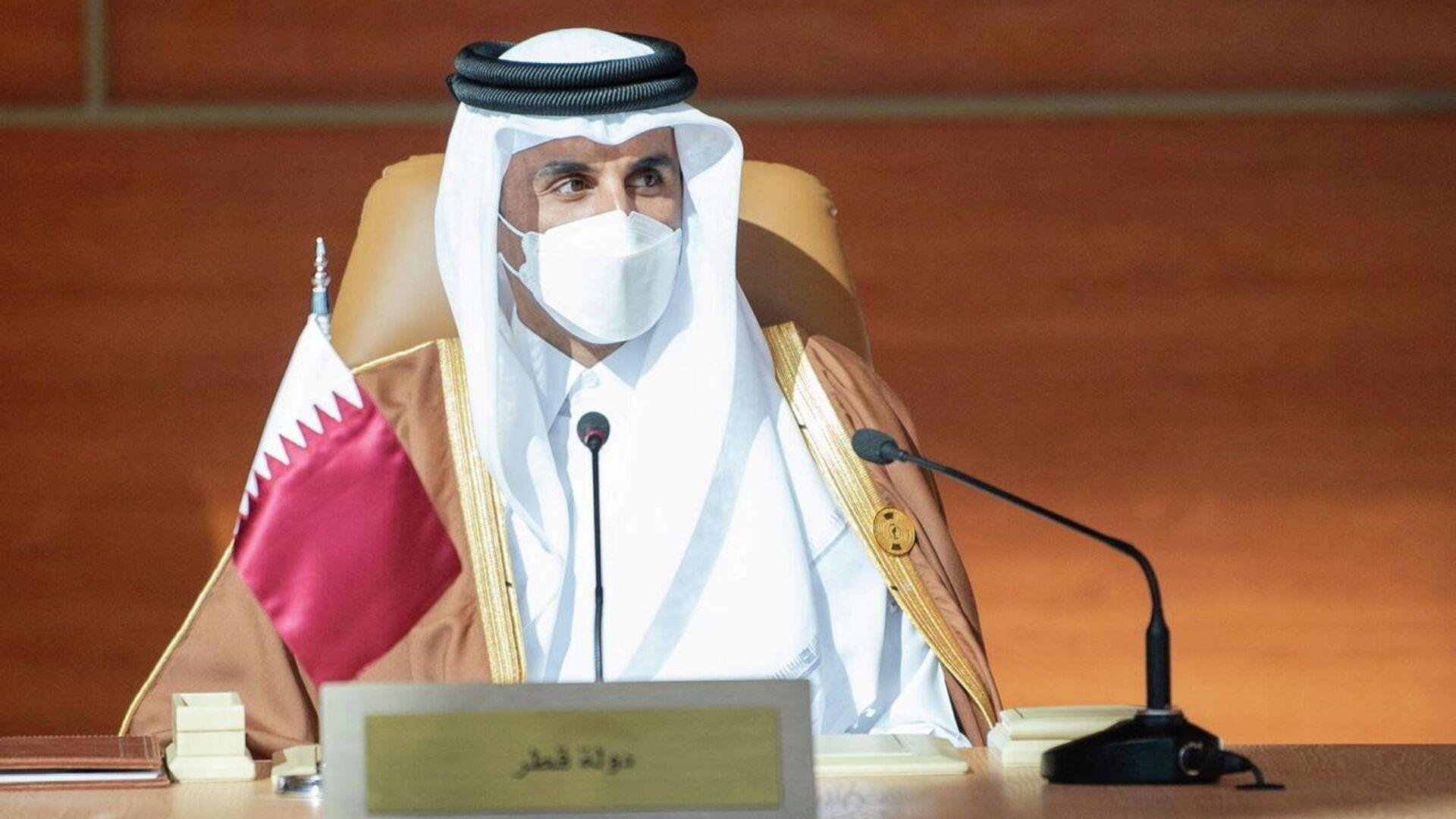 4-й эмир Катара Тамим бин Хамад Аль Тани на 41-м саммите Совета сотрудничества арабских государств Персидского залива в Саудовской Аравии - РИА Новости, 1920, 05.01.2021