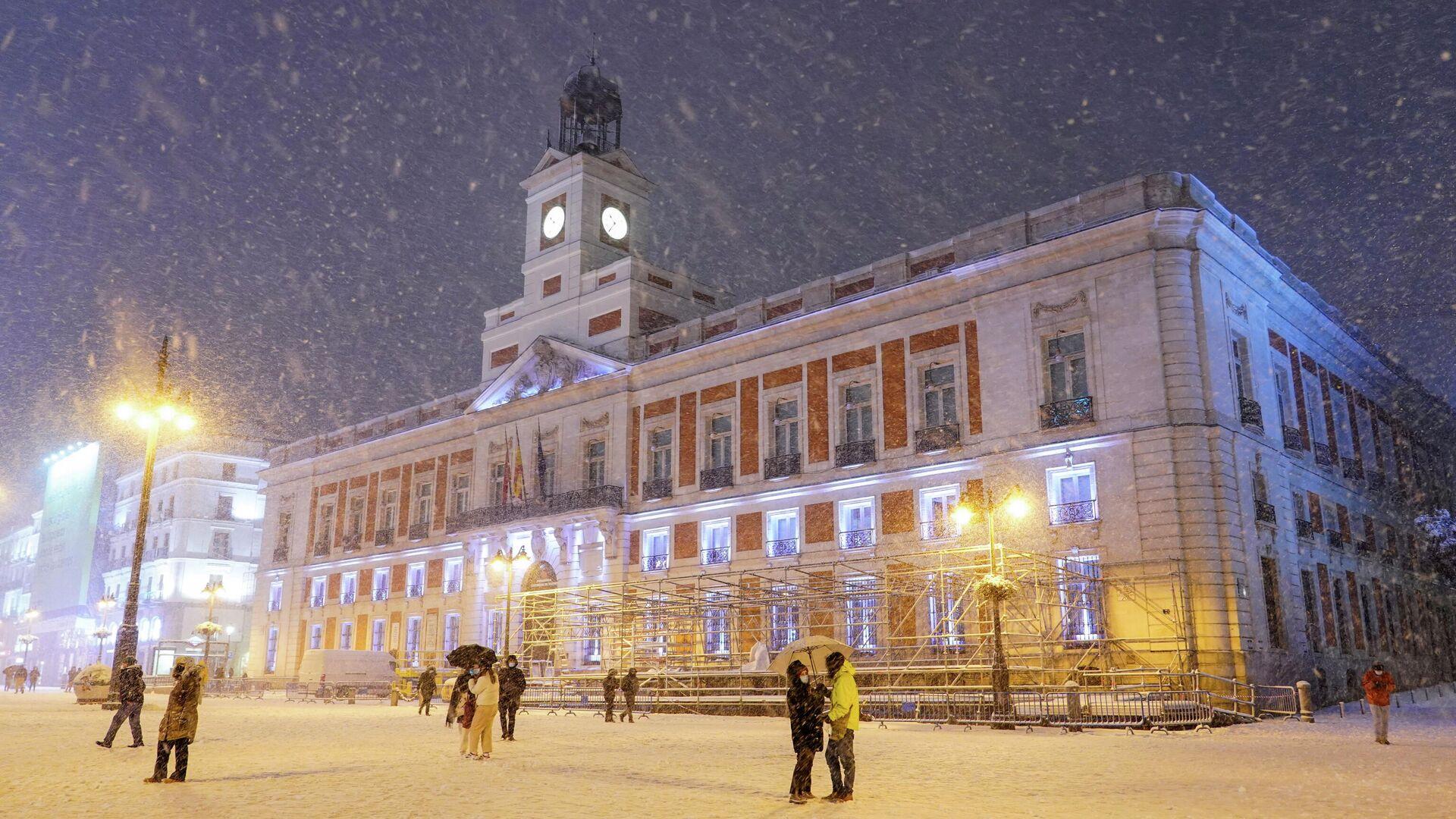 Снегопад в Мадриде - РИА Новости, 1920, 09.01.2021