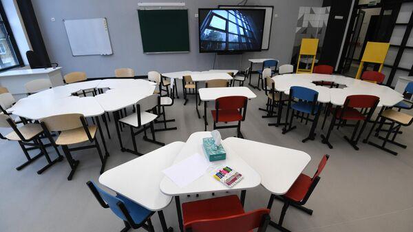 Класс в строящейся школе №158 на 1900 мест в районе Левобережный в Москве