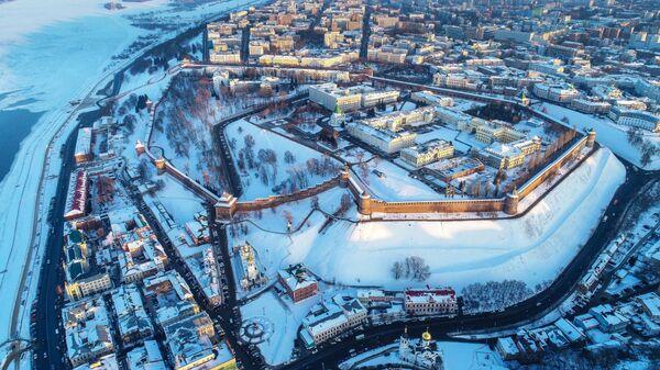 Вид на Нагорную часть и Кремль Нижнего Новгорода