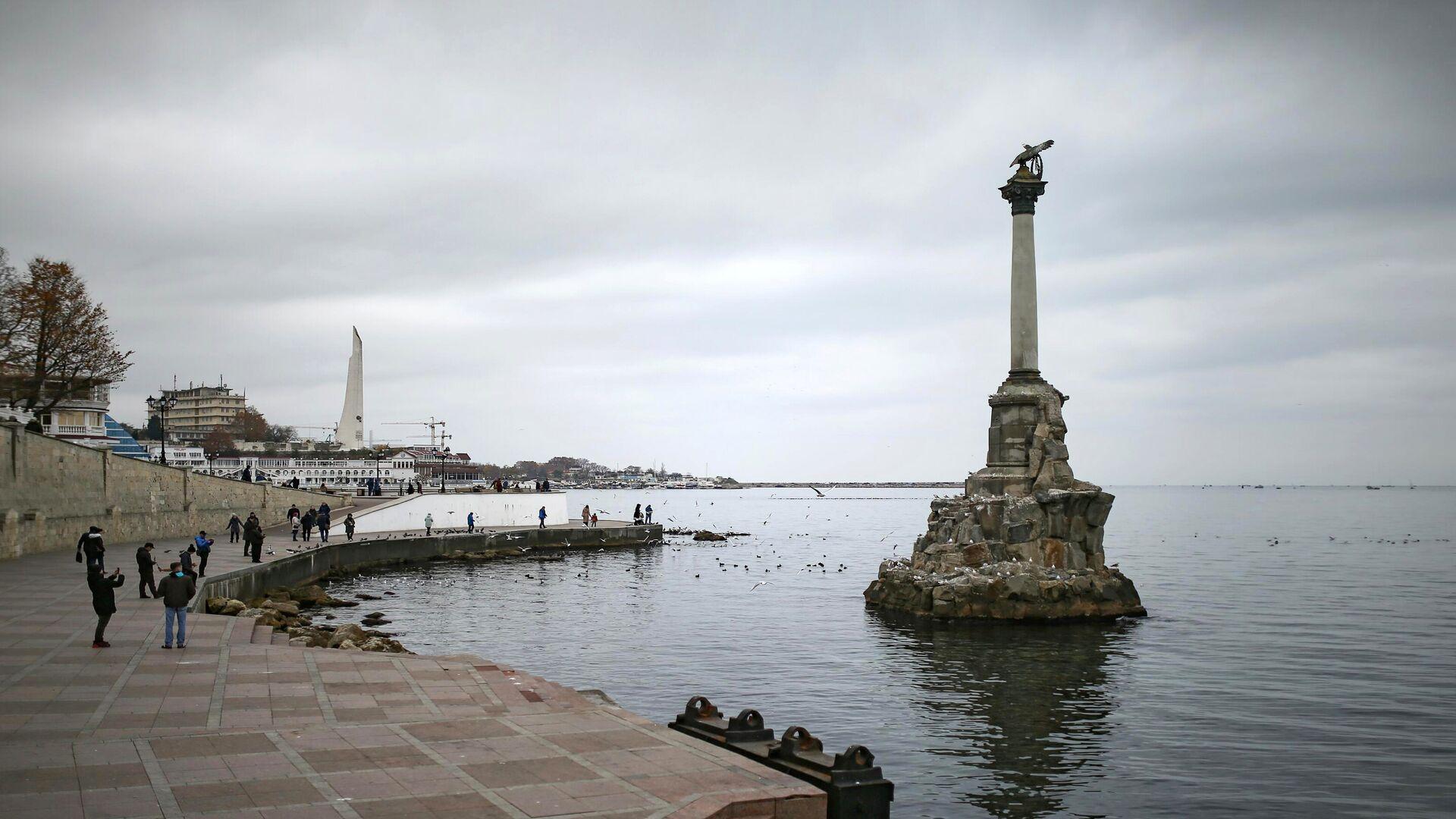 Памятник затопленным кораблям в Севастополе - РИА Новости, 1920, 09.04.2021