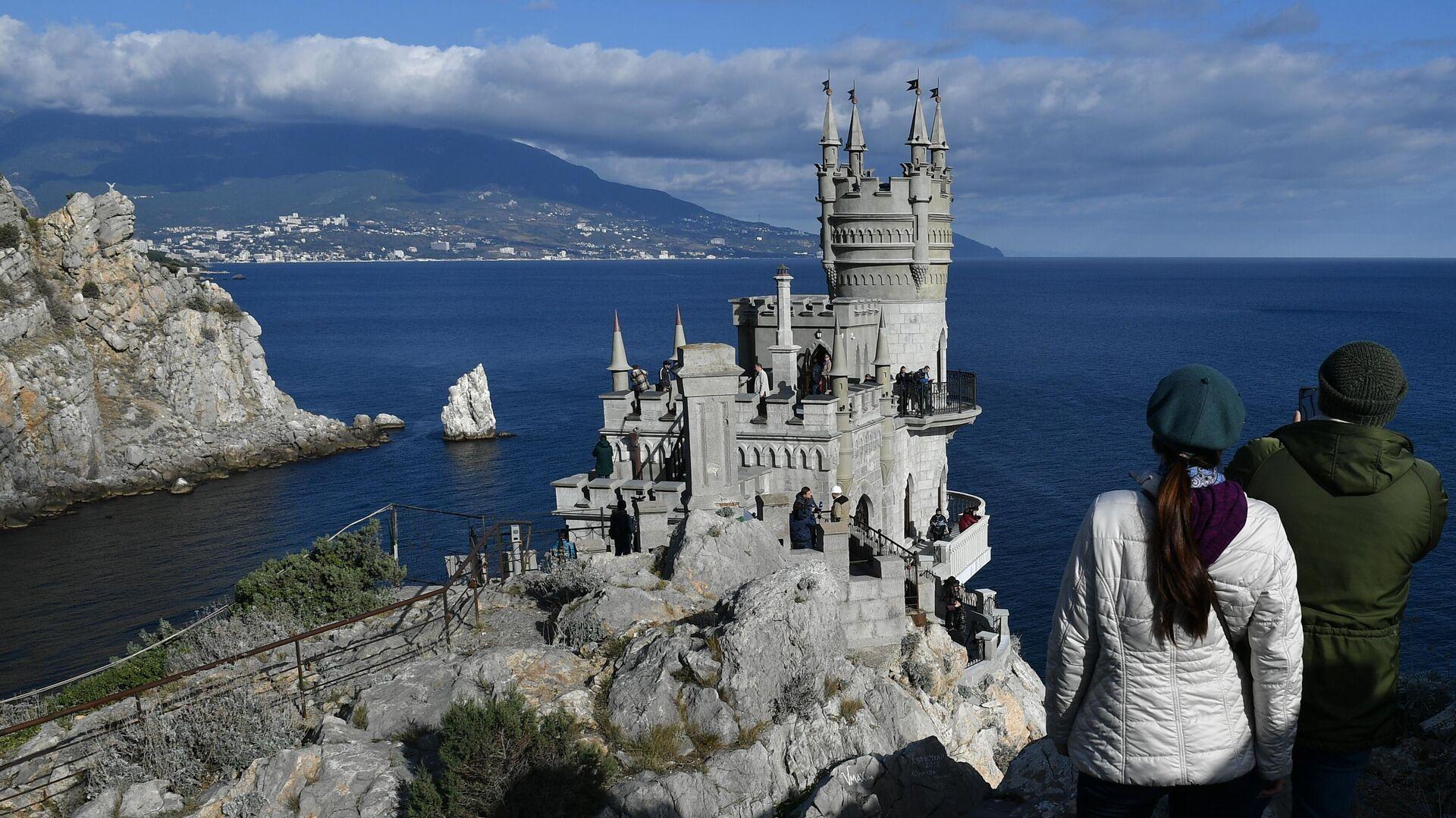 Дворец-замок Ласточкино гнездо в Крыму - РИА Новости, 1920, 14.01.2021