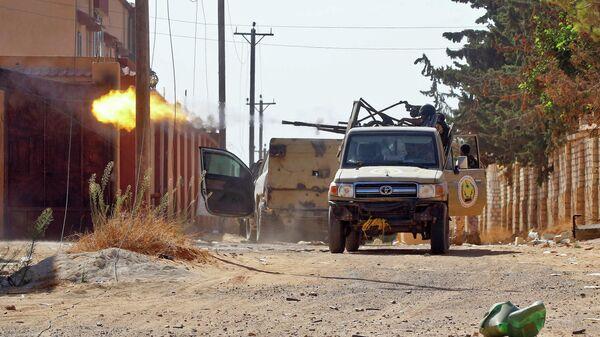 Бойцы ПНС во время столкновений с армией Халифы Хафтара