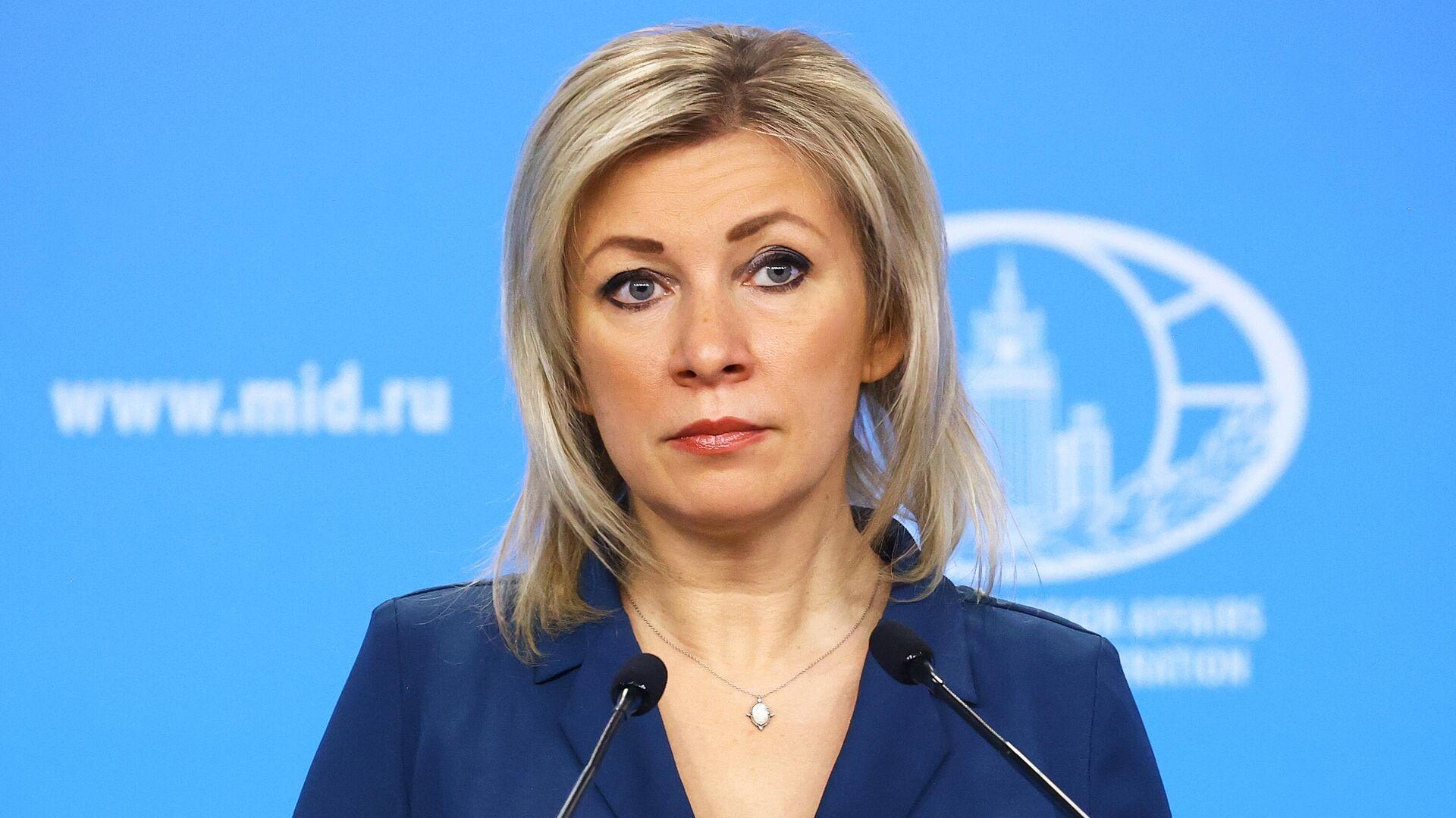 Официальный представитель Министерства иностранных дел России Мария Захарова во время брифинга в Москве - РИА Новости, 1920, 07.02.2021