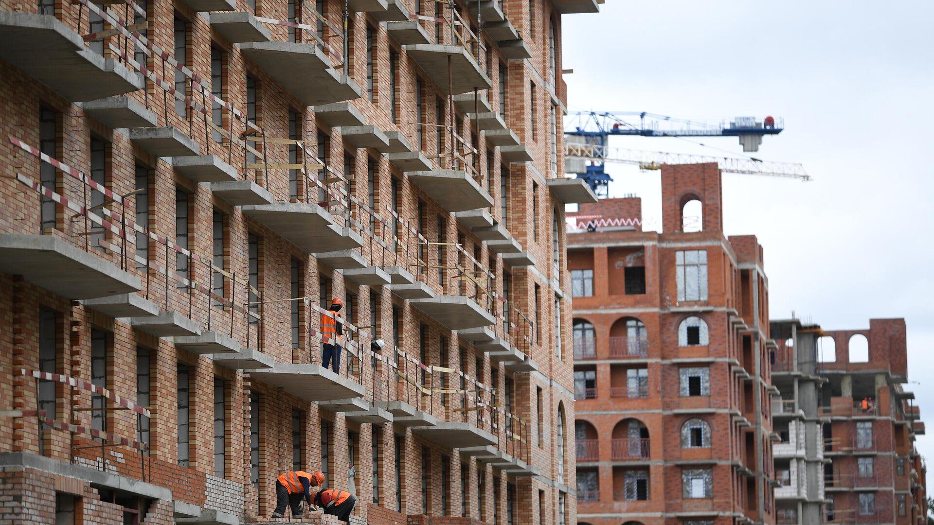 Строительство жилья - РИА Новости, 1920, 08.02.2021