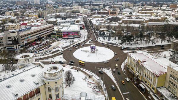 Заснеженный Симферополь