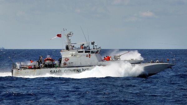 Судно береговой охраны в Турции