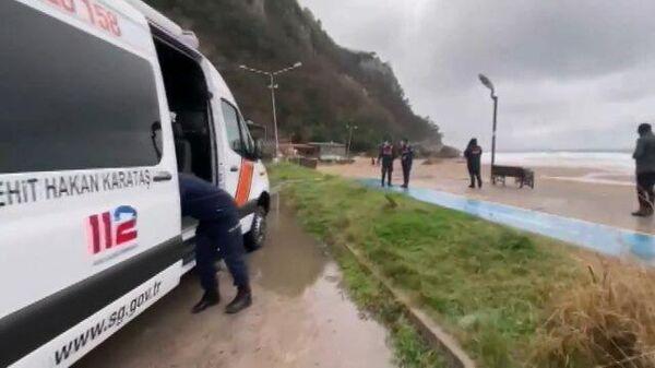 Кадры с места затонувшего сухогруза у берегов Турции
