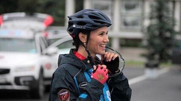 Российская велогонщица Гульназ Хатунцева