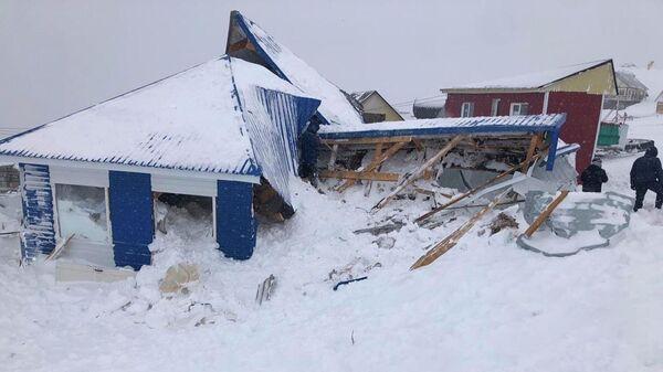 На месте схода лавины в Карачаево-Черкесии. 18 января 2021