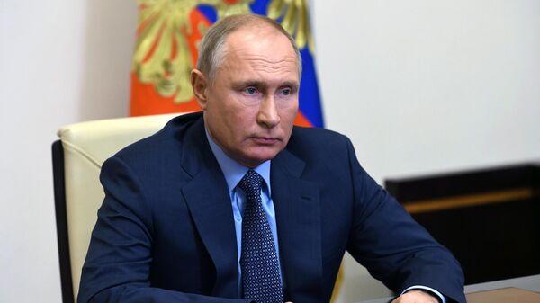 Президент РФ В. Путин провел встречу с главой Газпрома А. Миллером