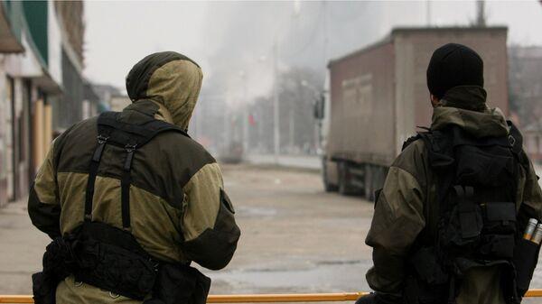 Военнослужащие подразделения специального назначения МВД Чеченской республики