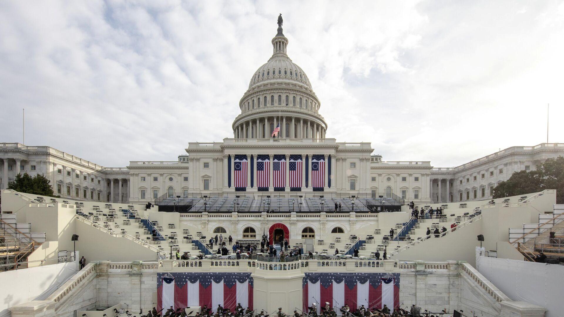 Подготовка к генеральной репетиции инаугурации избранного президента США Джо Байдена в Вашингтоне, округ Колумбия - РИА Новости, 1920, 20.01.2021