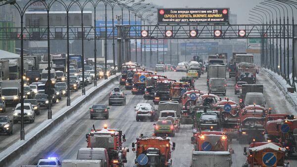 Автомобильное движение на Московской кольцевой автомобильной дороге