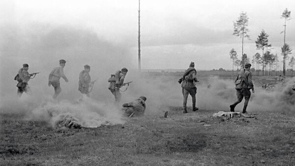Солдаты ведут бой в Смоленской области