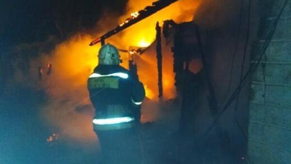 Пожар в частном жилом доме в городе Вязники Владимирской области