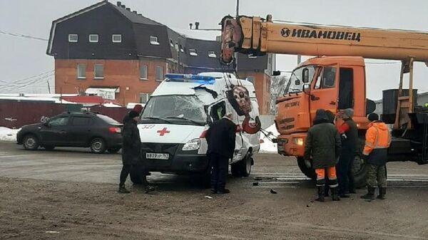ДТП с участием автомобиля скорой помощи в Самаре