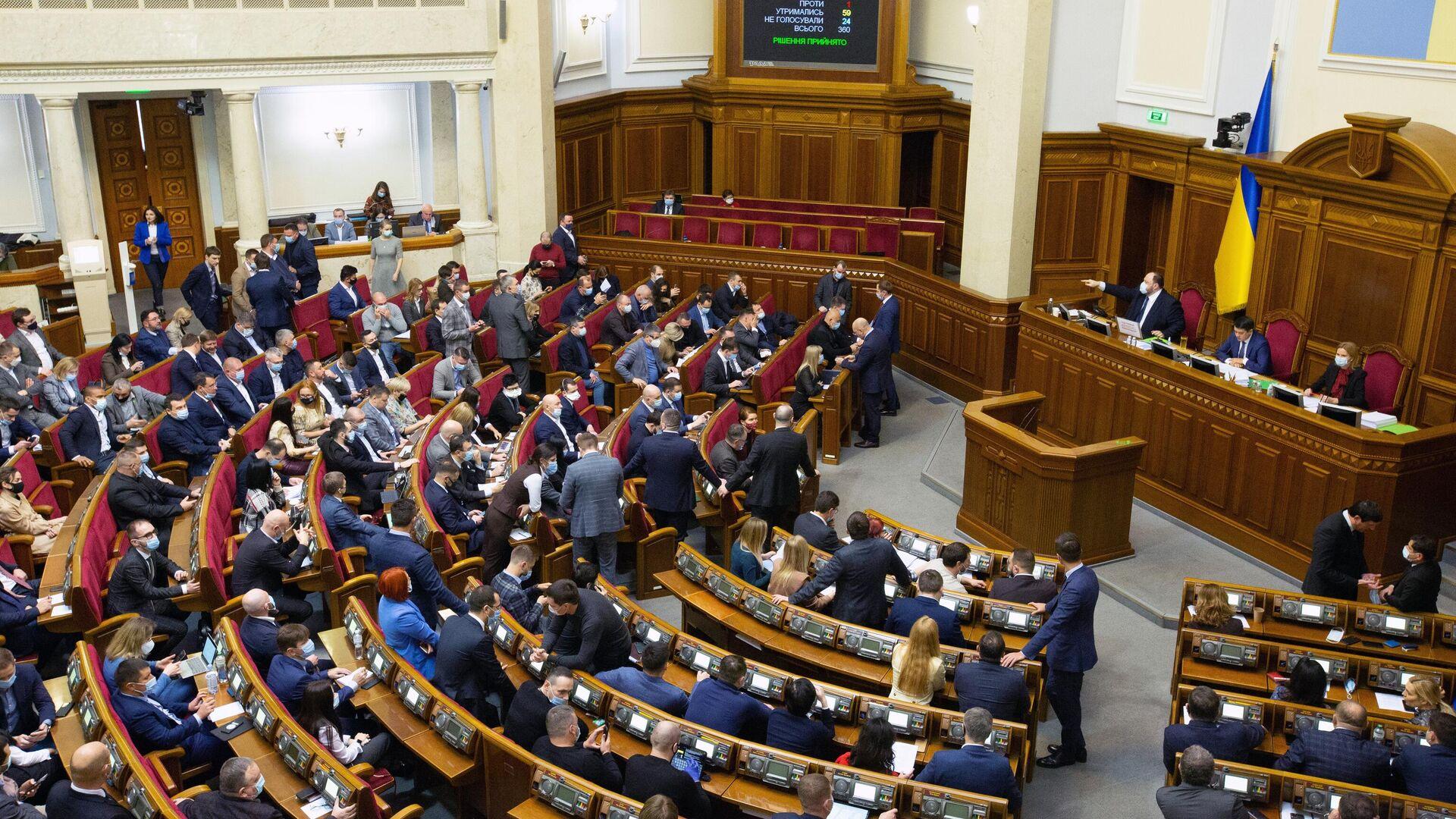 Заседание Верховной рады Украины - РИА Новости, 1920, 28.01.2021