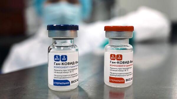 Производство российской вакцины против COVID-19 Спутник V