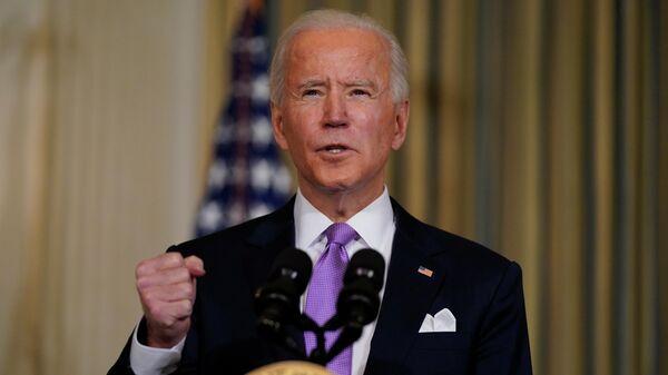 Президент США Джо Байден во время пресс-конференции в Белом доме