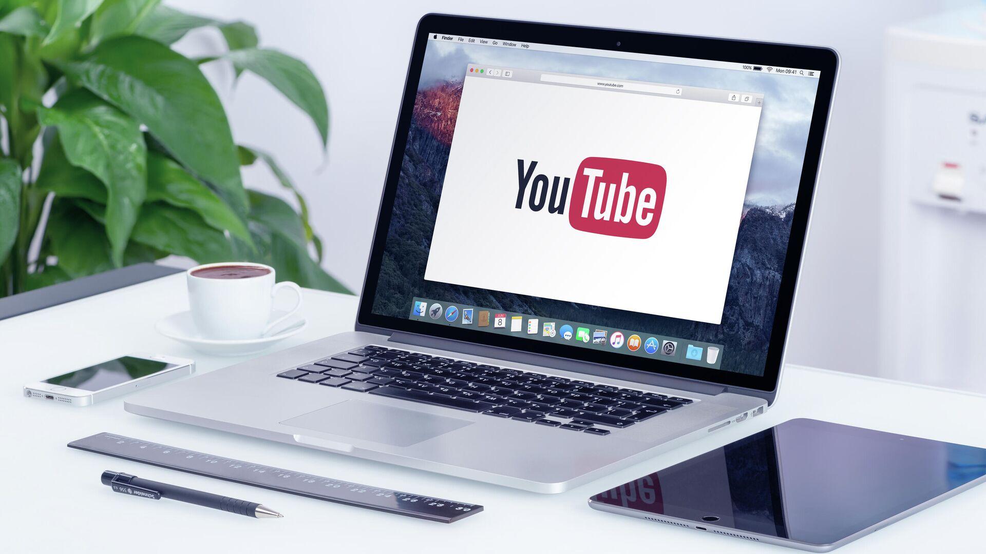 Логотип YouTube  - РИА Новости, 1920, 24.04.2021