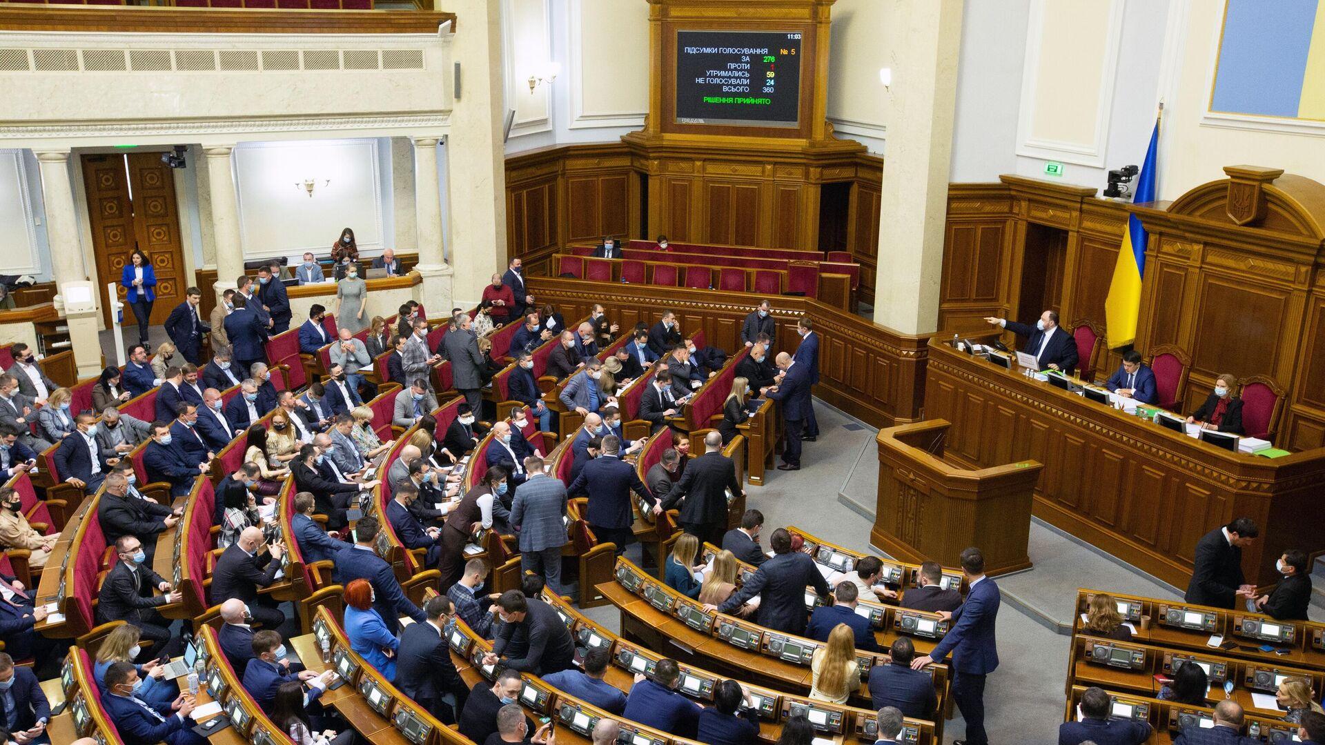 На заседании первой пленарной сессии Верховной рады Украины в 2021 году - РИА Новости, 1920, 01.03.2021