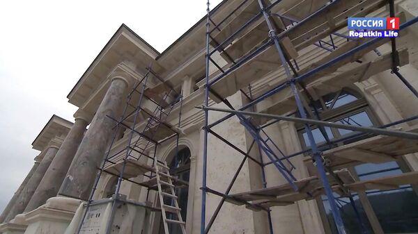 Кадр из репортажа телеканала Россия 1 о строящемся объекте в Прасковеевке