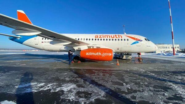 Самолет, выполнявший рейс А4-254 по маршруту Нижний Новгород – Ростов, в аэропорту Стригино