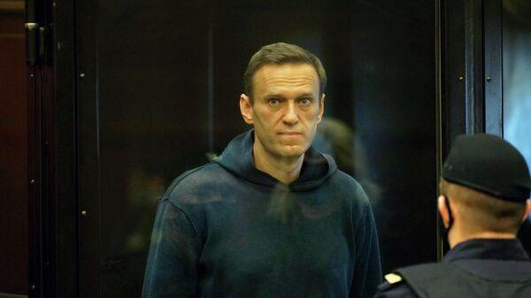 Алексей Навальный во время заседания Мосгорсуда