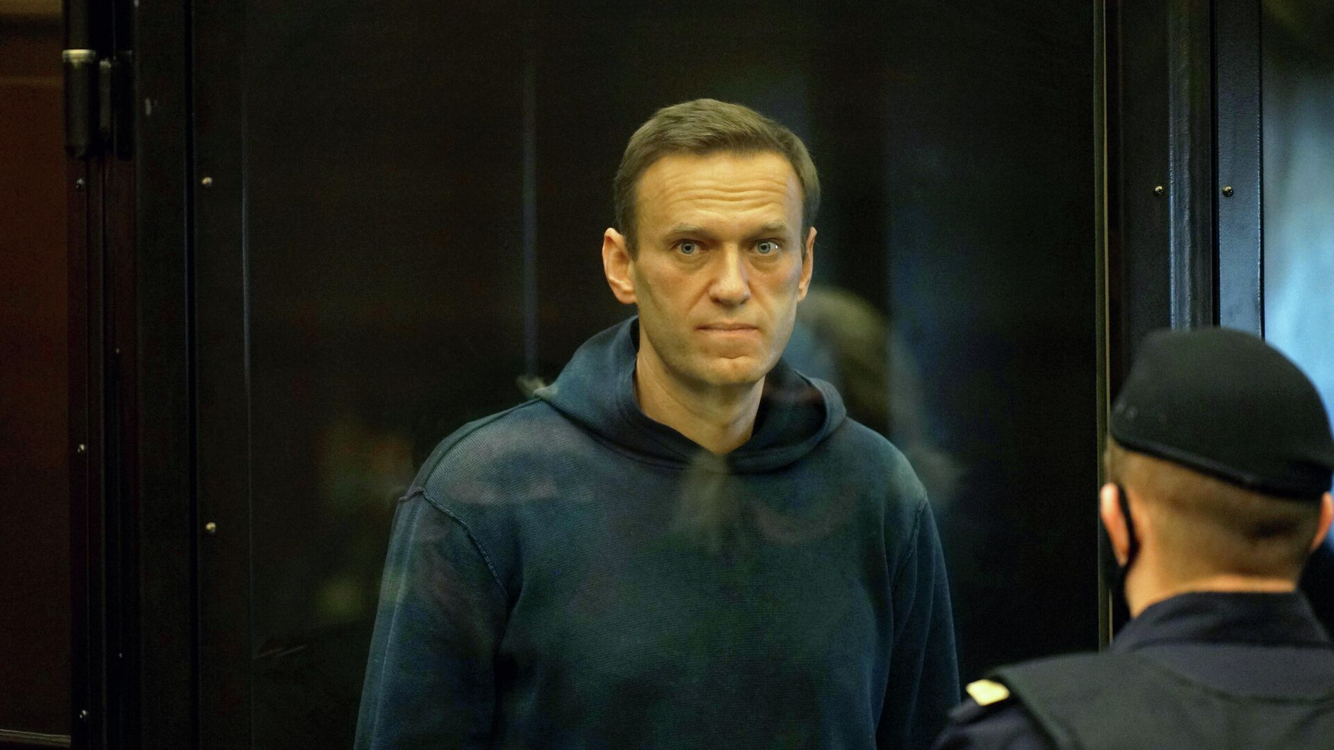 Алексей Навальный во время заседания Мосгорсуда - РИА Новости, 1920, 03.02.2021
