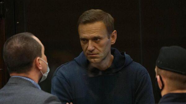 Алексей Навальный на заседании Московского городского суда
