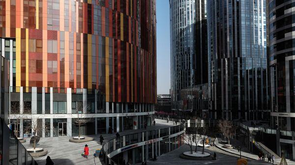 Район Санлитунь в деловом центре Пекина