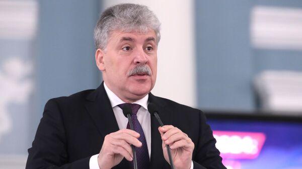 Директор ЗАО Совхоз имени Ленина Павел Грудинин
