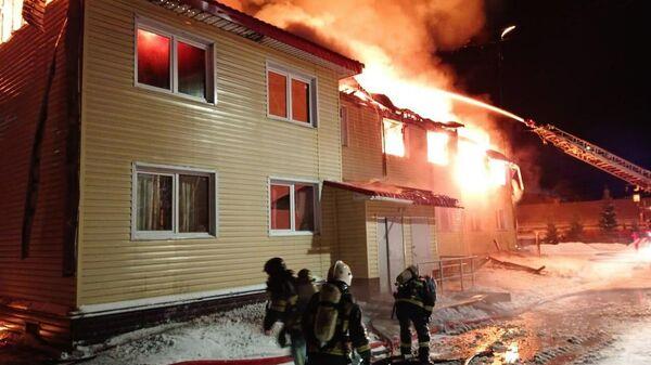 Пожар в жилом доме в городе Кандалакша в Мурманской области