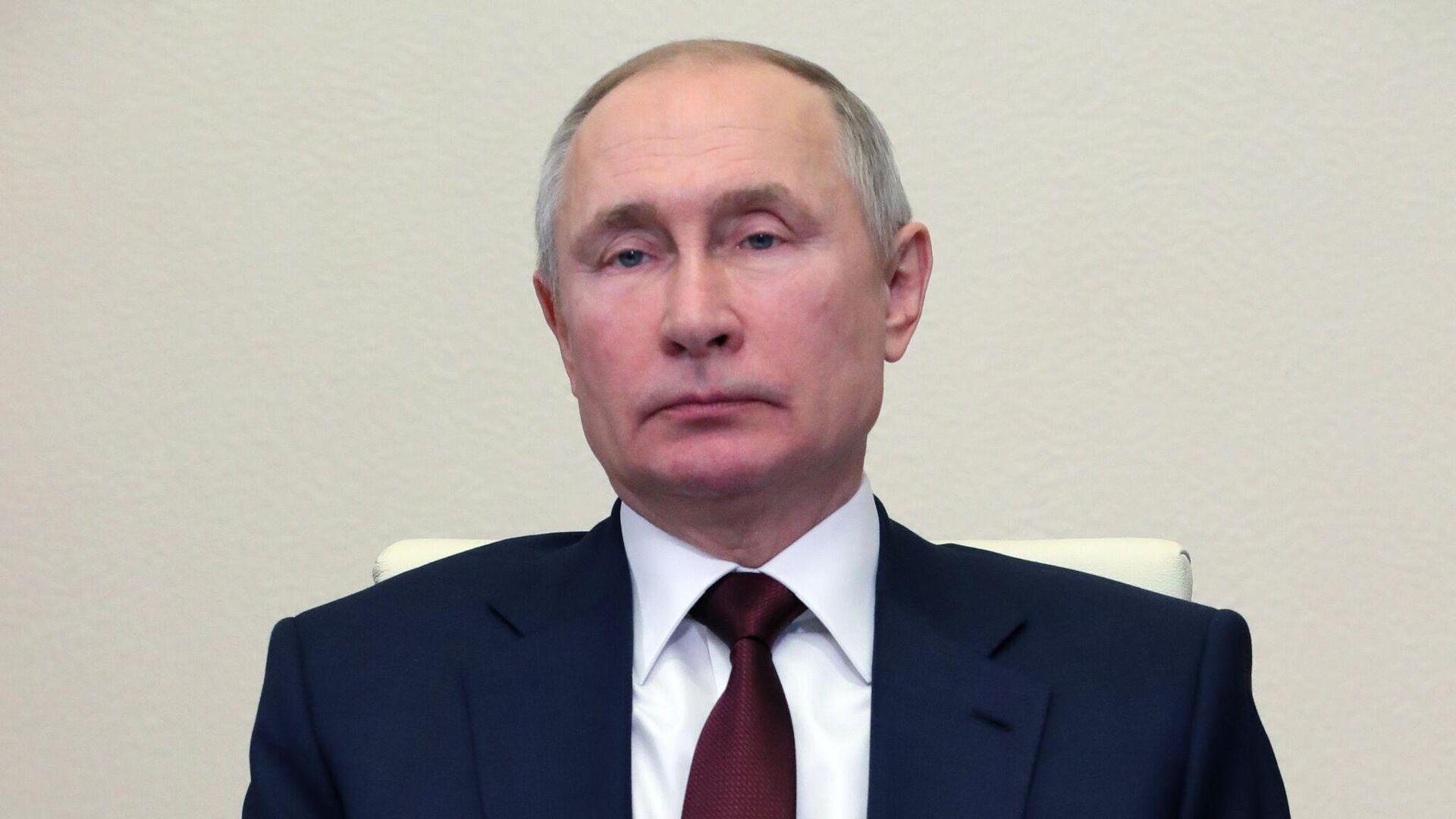 Президент РФ Владимир Путин проводит заседание Совета по науке и образованию в режиме видеоконференции - РИА Новости, 1920, 10.02.2021