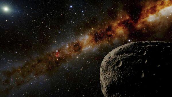 Художественное изображение карликовой планеты Farfarout - самого удаленного обнаруженного объекта Солнечной системы
