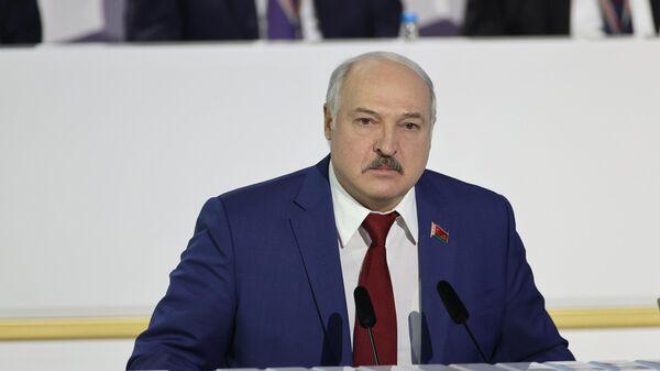 Президент Белоруссии Александр Лукашенко выступает на VI Всебелорусском народном собрании
