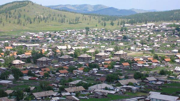 Вид на село Туим Ширинского района Хакасии