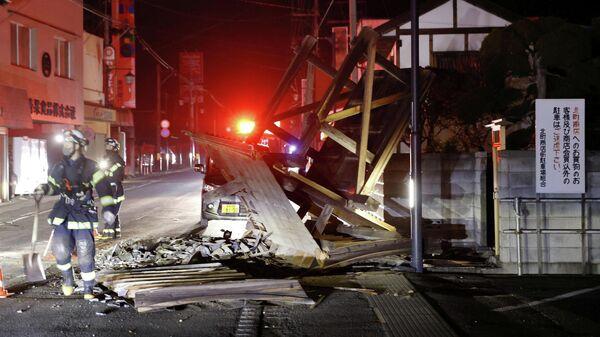 Последствия сильного землетрясения в префектуре Фукусима. 14 февраля 2021 года