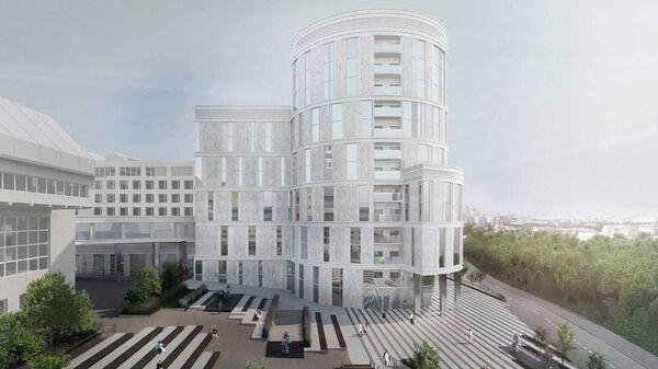 Проект здания МИСиС рядом с Парком Горького  в Москве