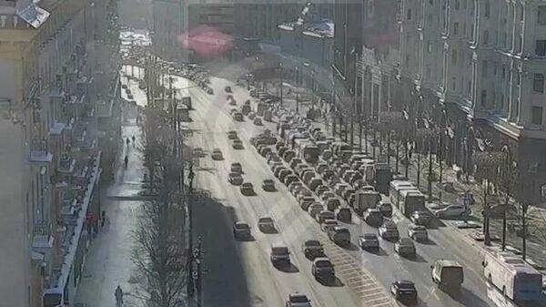 ДТП на Тверской: столкнулись пять машин