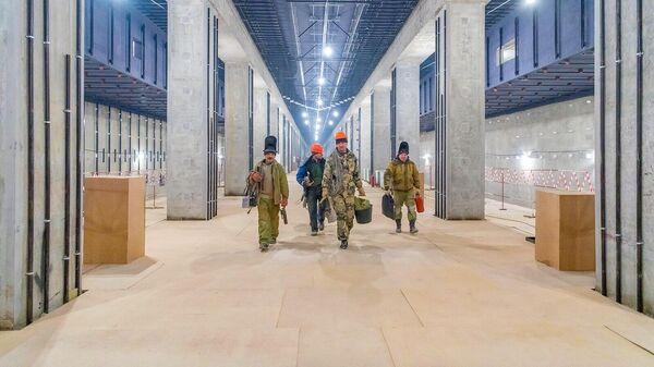 Строительство станции Воронцовская Большой кольцевой линии московского метрополитена