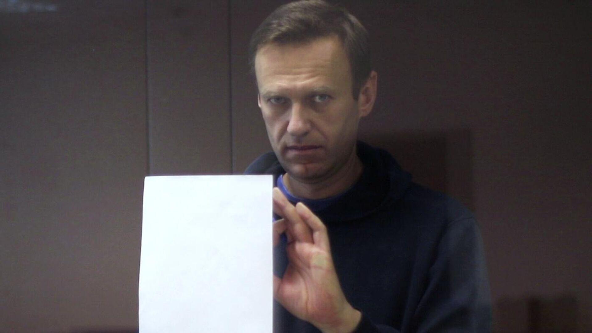 Алексей Навальный в зале Бабушкинского районного суда - РИА Новости, 1920, 22.02.2021