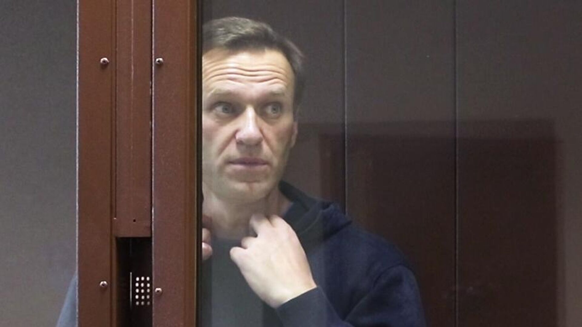 Алексей Навальный в зале Бабушкинского районного суда - РИА Новости, 1920, 19.04.2021