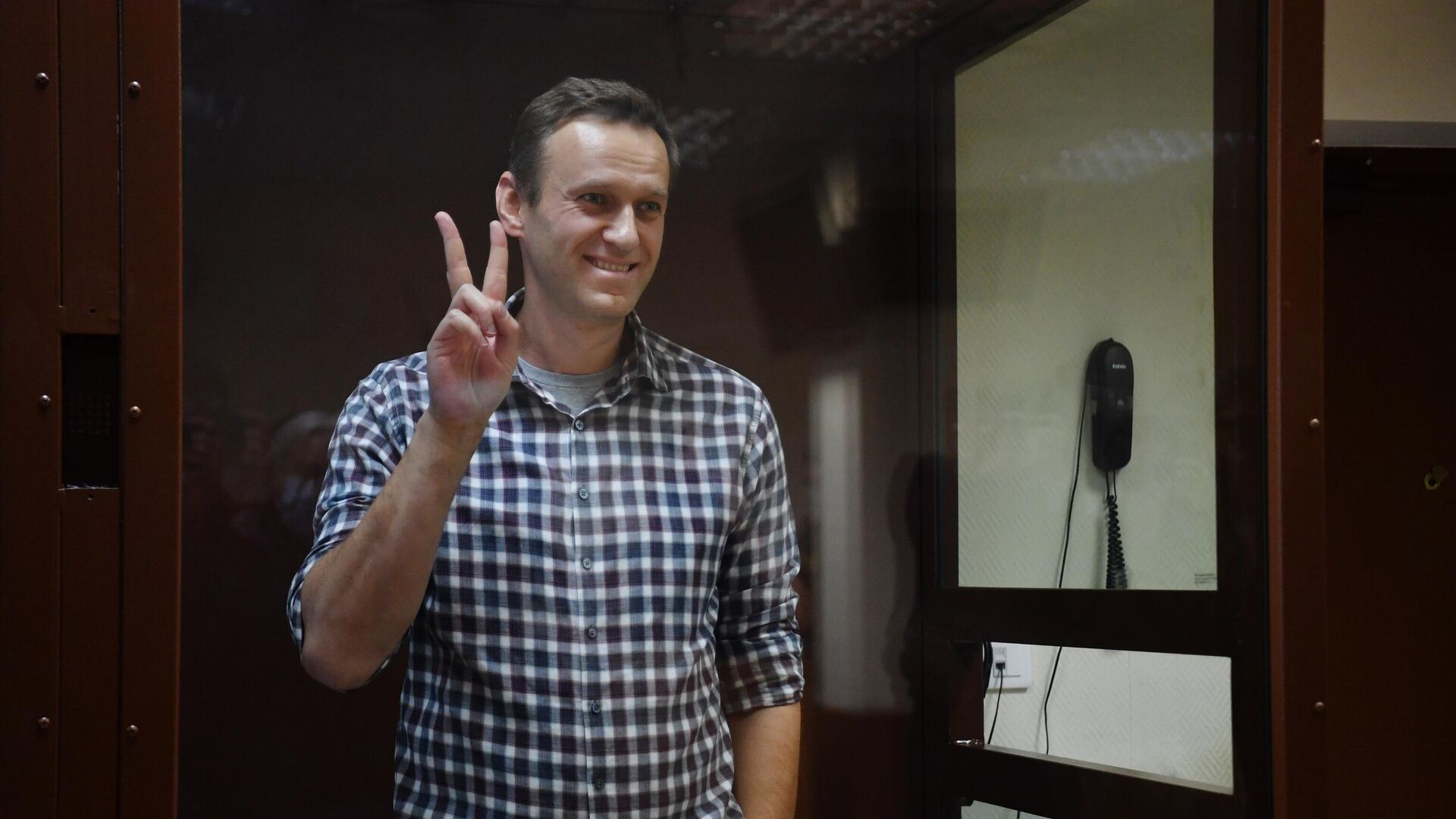 Алексей Навальный в зале Бабушкинского районного суда - РИА Новости, 1920, 26.07.2021