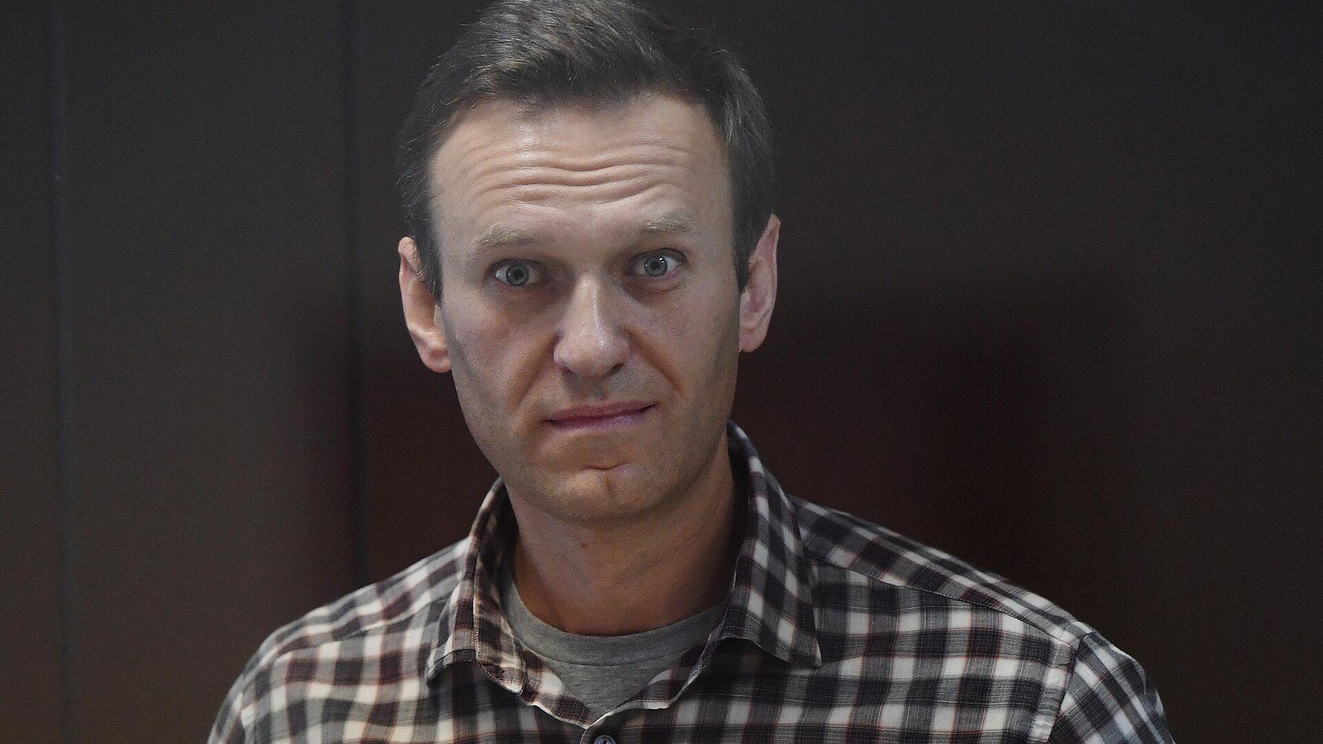 Алексей Навальный в зале Бабушкинского районного суда - РИА Новости, 1920, 16.09.2021