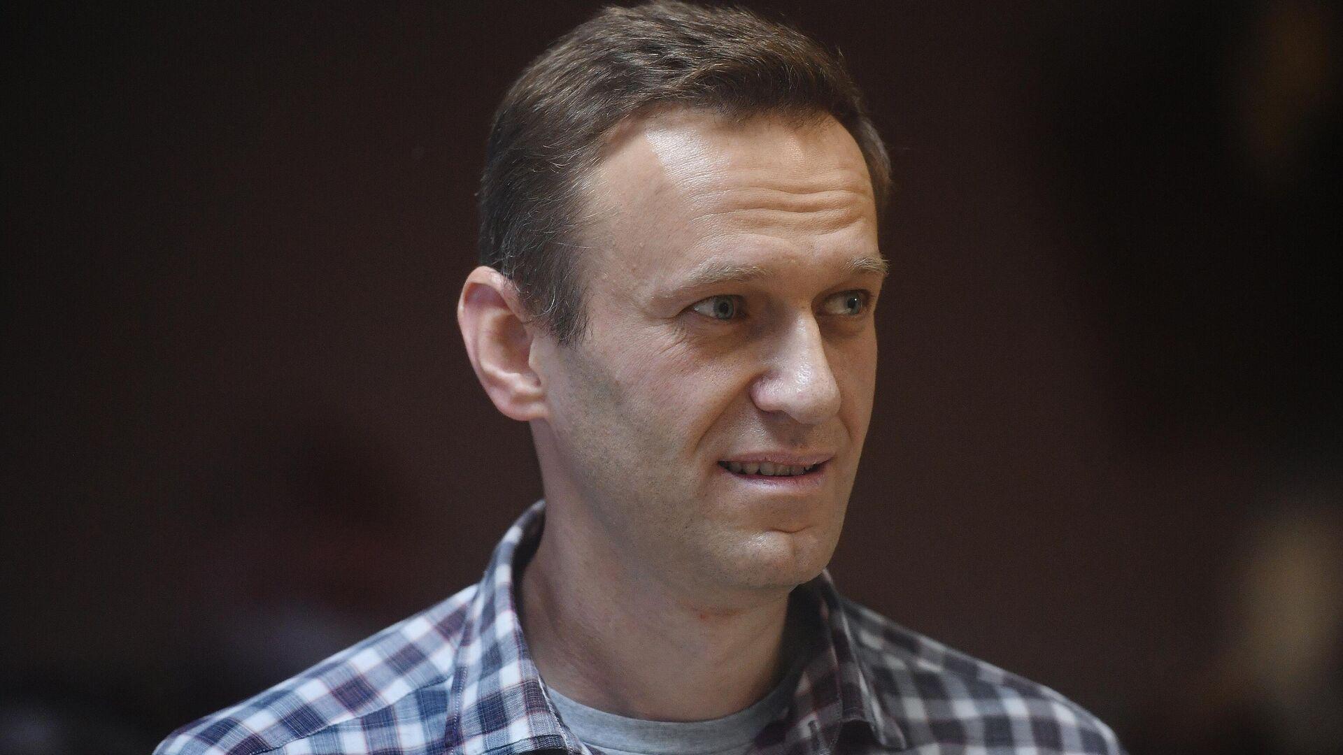 Алексей Навальный в зале Бабушкинского районного суда - РИА Новости, 1920, 01.08.2021
